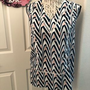 HALOGEN SLEEVELESS BLOUSE SIZE XS